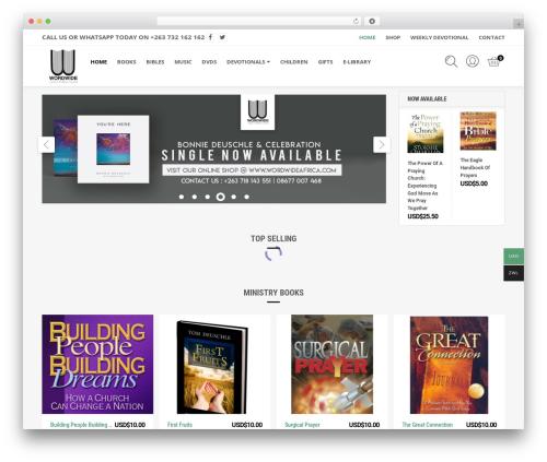 TheShopier WordPress ecommerce template - wordwideafrica.com