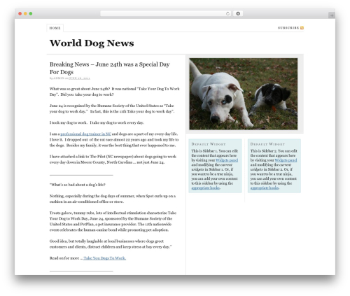 Thesis WordPress news theme - worlddognews.com