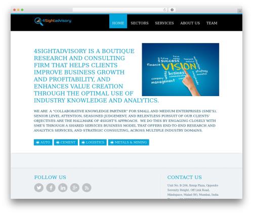 Trias best WordPress theme - 4sightadvisory.com