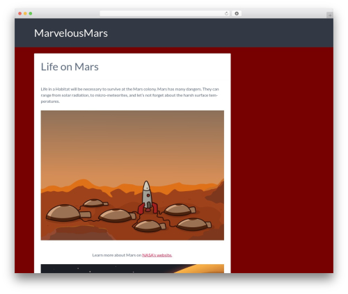 WordPress template Bones (Rename Me!) - marvelousmars.com