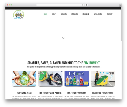 WordPress template Subway - cleancaruae.com