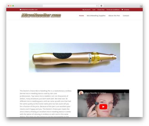 WordPress theme Divi - microneedler.com