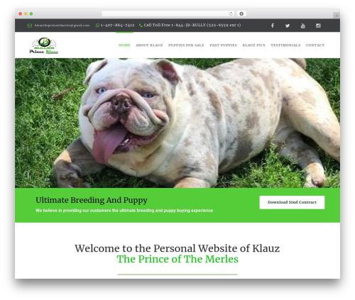WordPress theme HappyPets - princeklauz.com