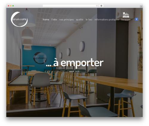 WordPress website template FatMoon - arumcafe.com