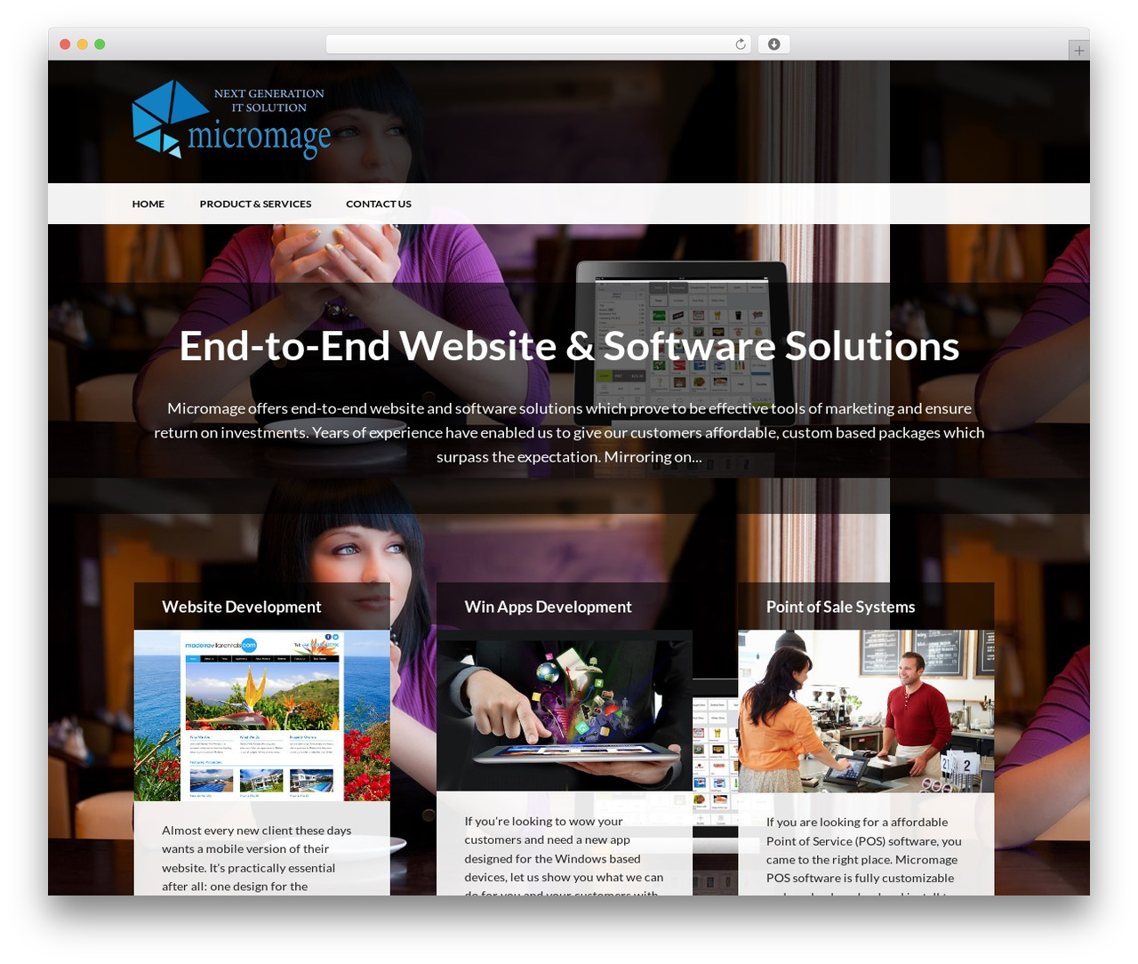 WP Advocate WordPress page template by WP Dev Shed - micromage.com