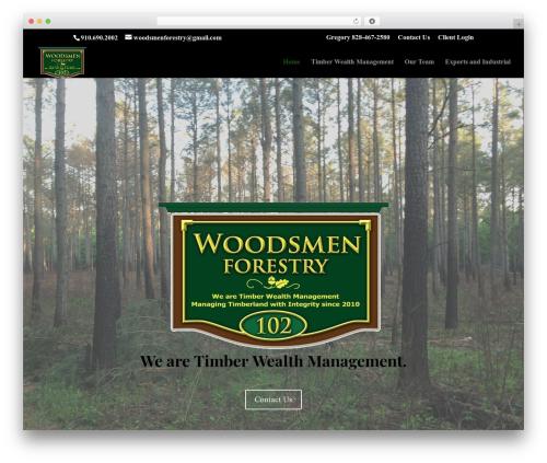 WP theme Divi - woodsmenforestry.com