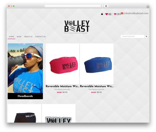 AccessPress Store WordPress theme - volleybeast.com