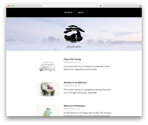 Argent WordPress template free - pinekraken.com