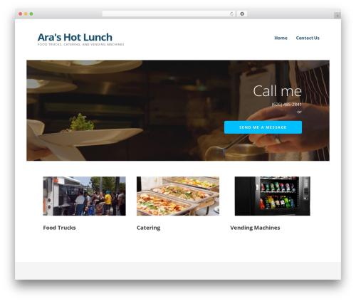 Ascension food WordPress theme - arashotlunch.com