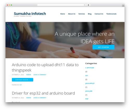 Ascension WP theme - sumukhainfotech.com