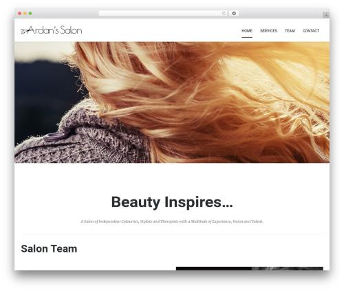 Best WordPress template Kora WP - salontallahassee.com