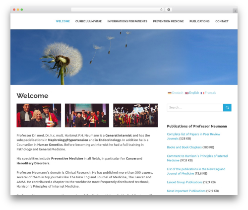 Best WordPress template Poseidon - prevention-medicine.com