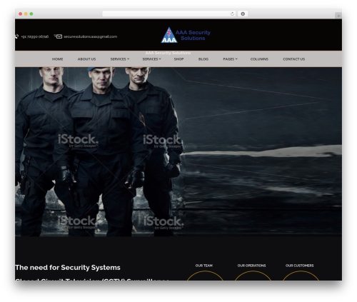 Best WordPress theme Bodyguard - aaasecuritysolutions.com