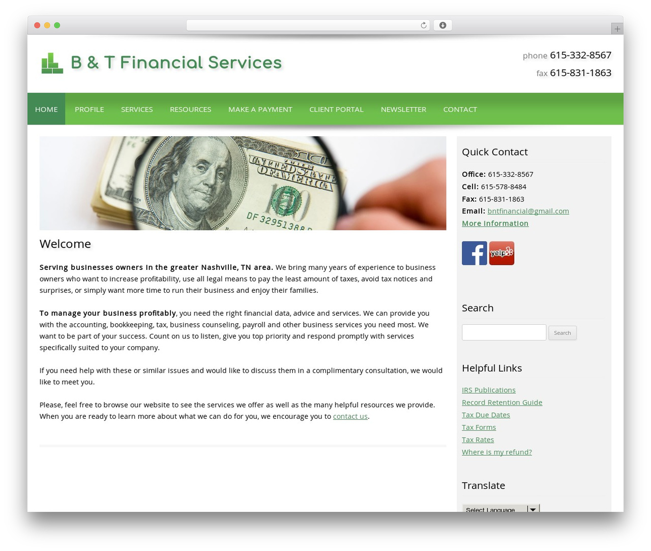 Best WordPress theme Customized - bntfinancialservices.com