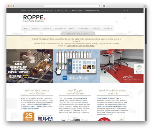 Betheme WordPress blog template - roppe.com