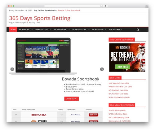 ColorMag free WP theme - 365dayssportsbetting.com