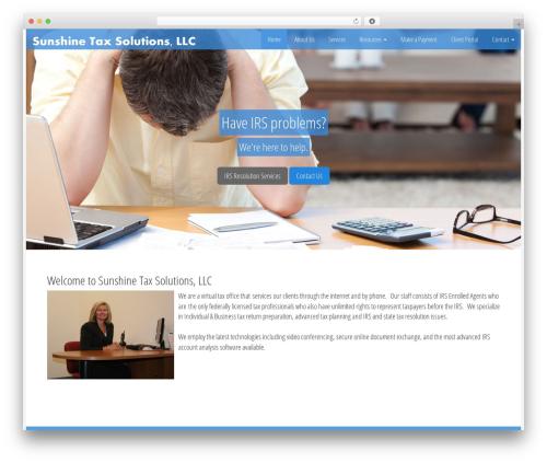 Customized3 WordPress theme design - sunshinetaxsolutions.com