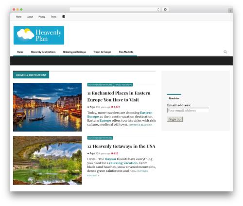 Free WordPress Ad Blocking Advisor plugin - heavenlyplan.com