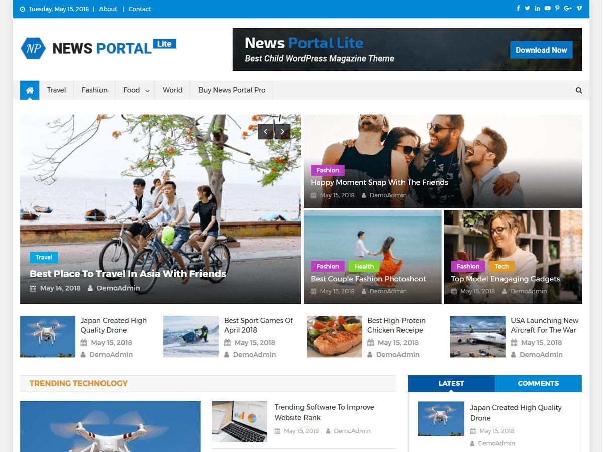 News Portal Lite WordPress news theme