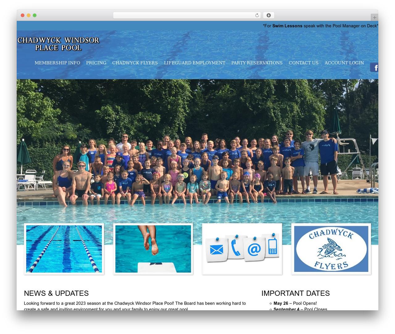 SwimmingPool WordPress theme - chadwyckwindsorpool.com