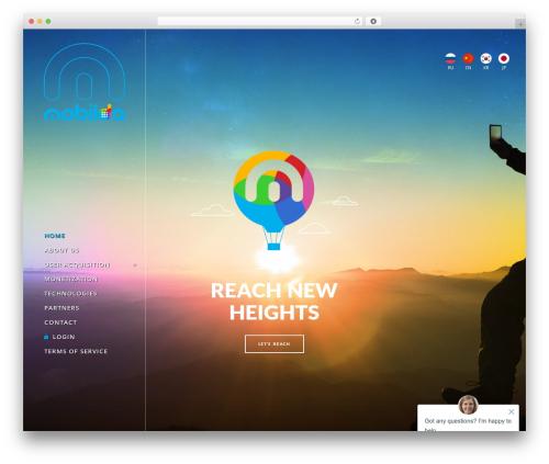 Theme WordPress Burst - mobilda.com