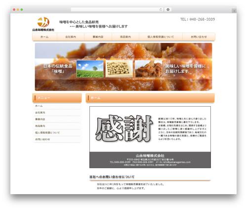 Theme WordPress M&W child One - yamanagamiso.com