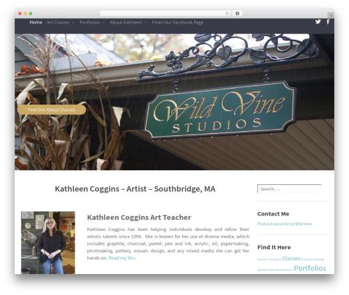WordPress template Altitude - wildvinestudio.com