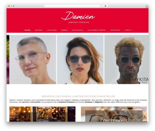 WordPress theme Auxane Opticiens - damien-opticiens.com