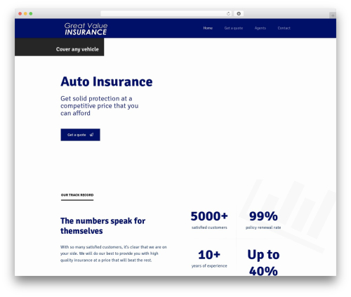 WP theme Insurance WordPress Theme - greatvalueinsurance.com