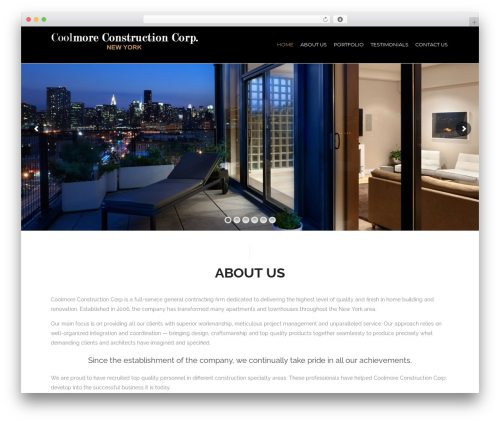 WP theme Tower - coolmoreconstructioncorp.com