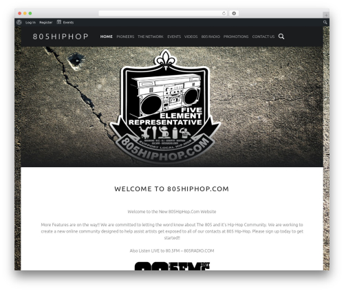 Auberge free WordPress theme - 805hiphop.com