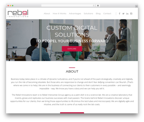 Cherry Framework business WordPress theme - rebelinnovate.com