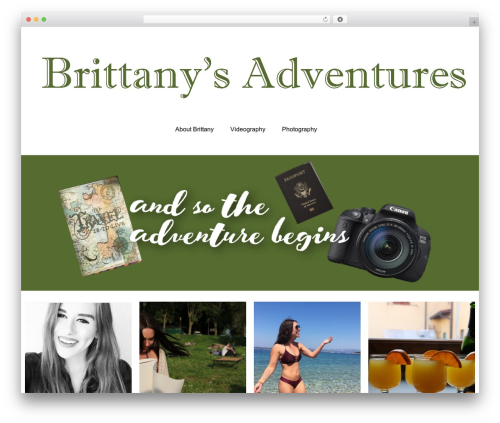 couture free WordPress theme - brittanysadventures.com