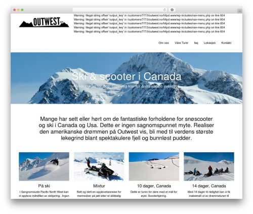 DMS WordPress theme - outwest.no