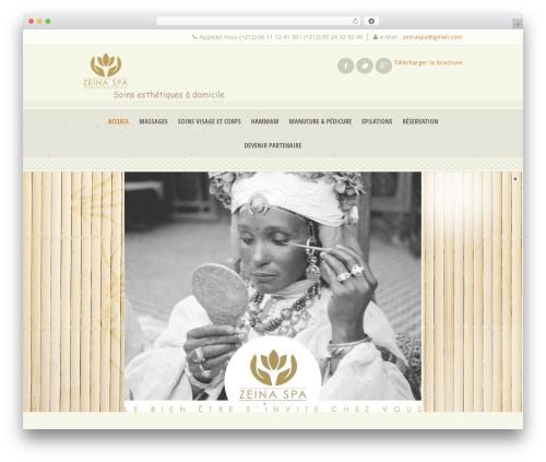 Dream Spa massage WordPress theme - zeinaspa.com