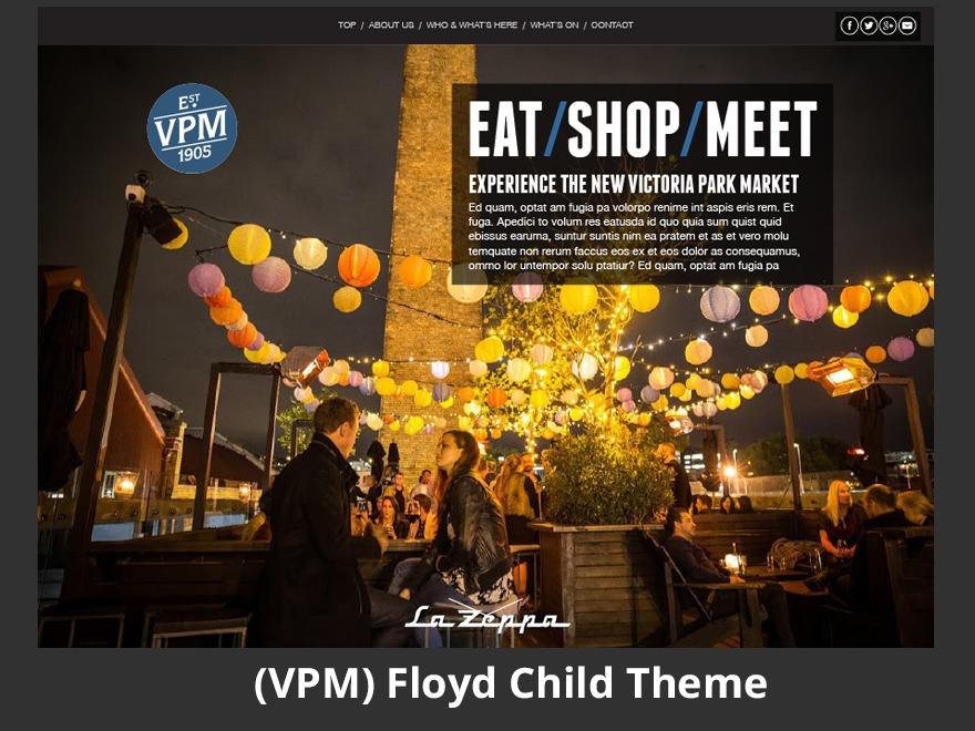 Floyd Child Theme theme WordPress portfolio