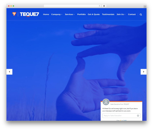 Pitch WordPress page template - teque7.com