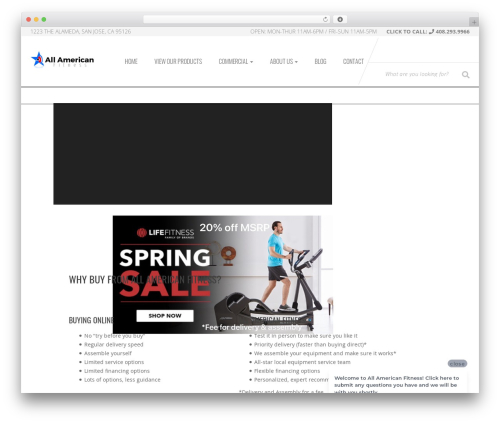 Sportexx WordPress theme design - allamericanfitness.com