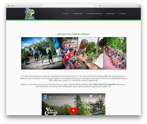 Superb WordPress theme design - villaducarmel.ca