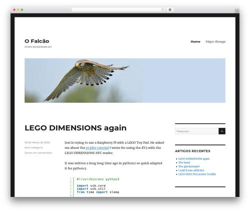 Twenty Sixteen template WordPress free - ofalcao.pt
