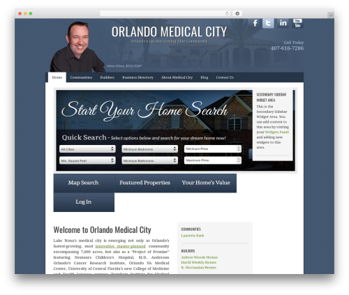 AgentPress Two WordPress template - orlandomedicalcity.com