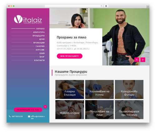 BeautySpot template WordPress - vitalaiz.com