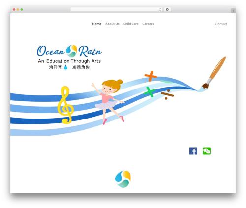 Bridge top WordPress theme - oceanrain.ca