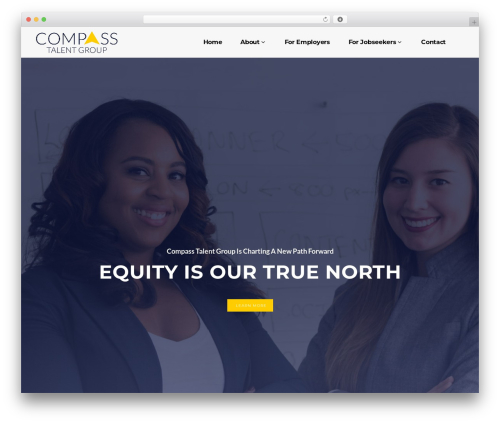 Compass Talent theme WordPress - compasstalentgroup.com