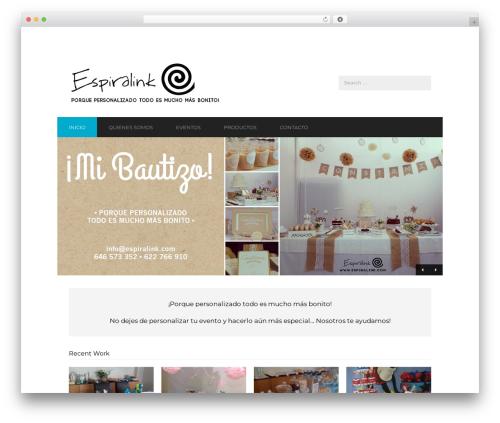 Corporate premium WordPress theme - espiralink.com