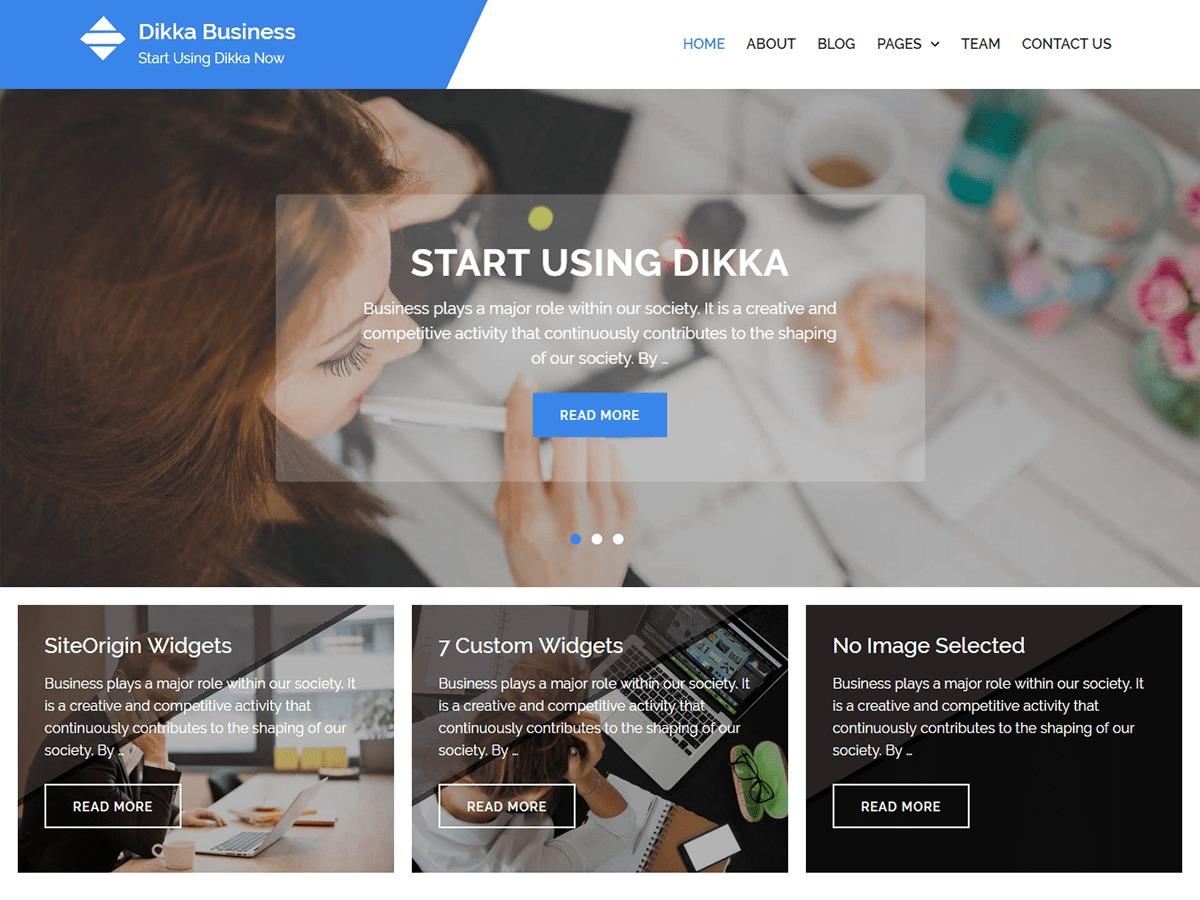 Dikka Business WordPress blog theme