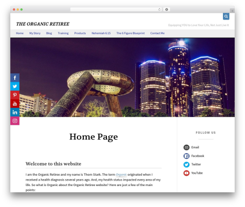 jkl best free WordPress theme - theorganicretiree.com