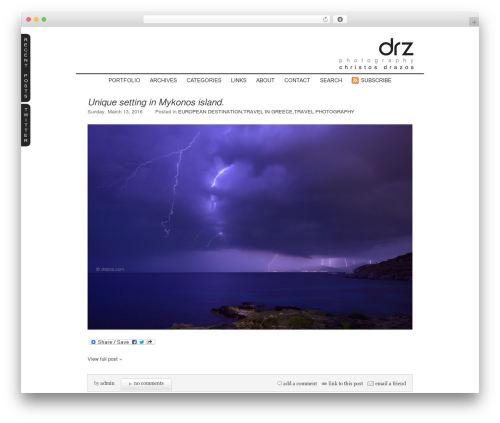 ProPhoto WordPress template for photographers - on-location.gr