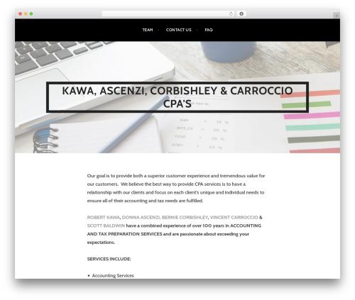 Argent WordPress website template - bvillecpa.com