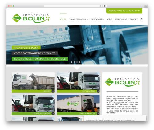 Avada template WordPress - transports-bouin.com